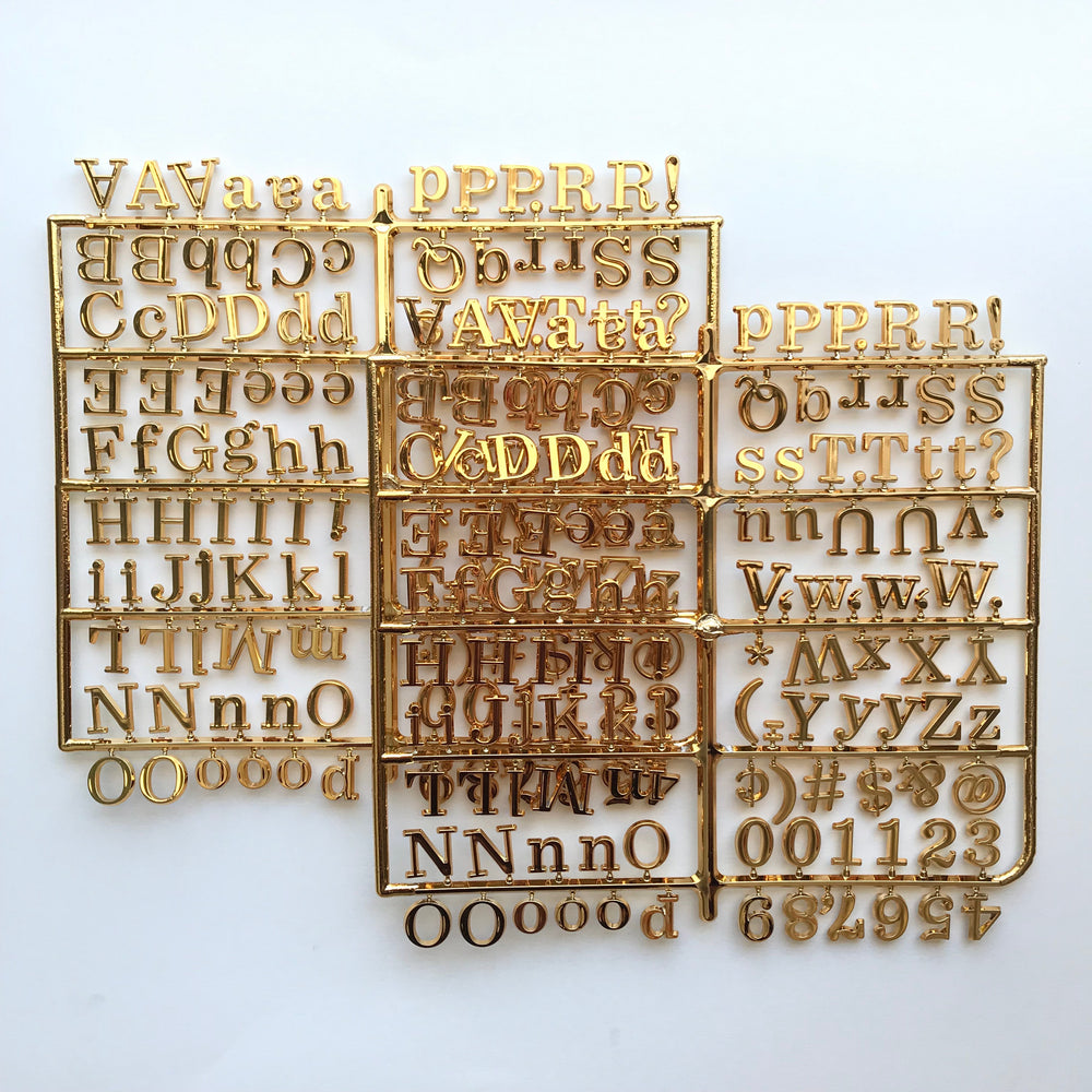 Metallic Gold Letter Set