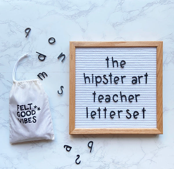 The Hipster Art Teacher Letter Set - BLACK