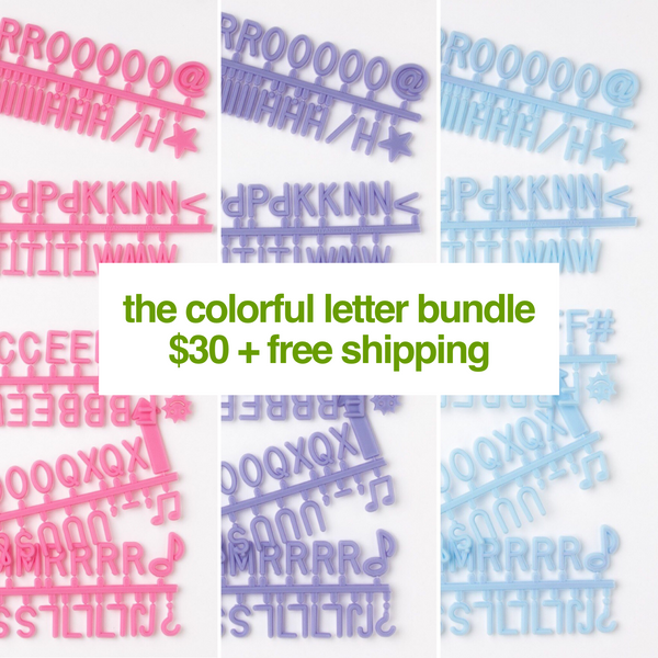The Colorful Letter Bundle