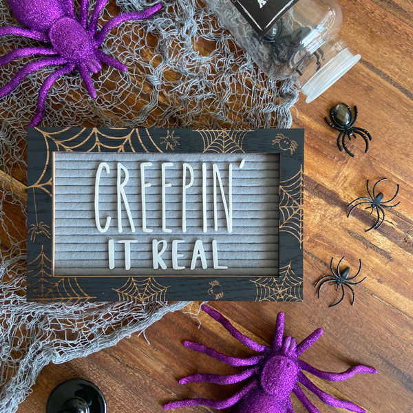 Letter Board Overlay - Spiders & Cobwebs