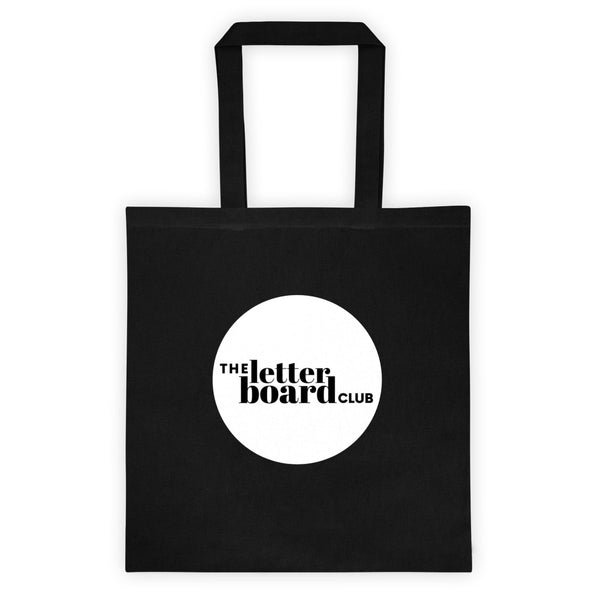 """The Letter Board Club"" Canvas Tote Bag"