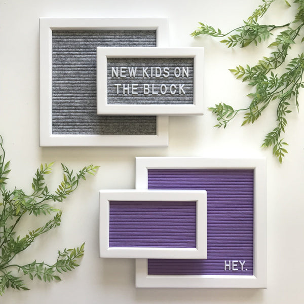 Standard - Heathered Gray W/ White Frame