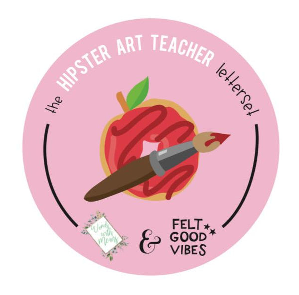 The Hipster Art Teacher Letter Set