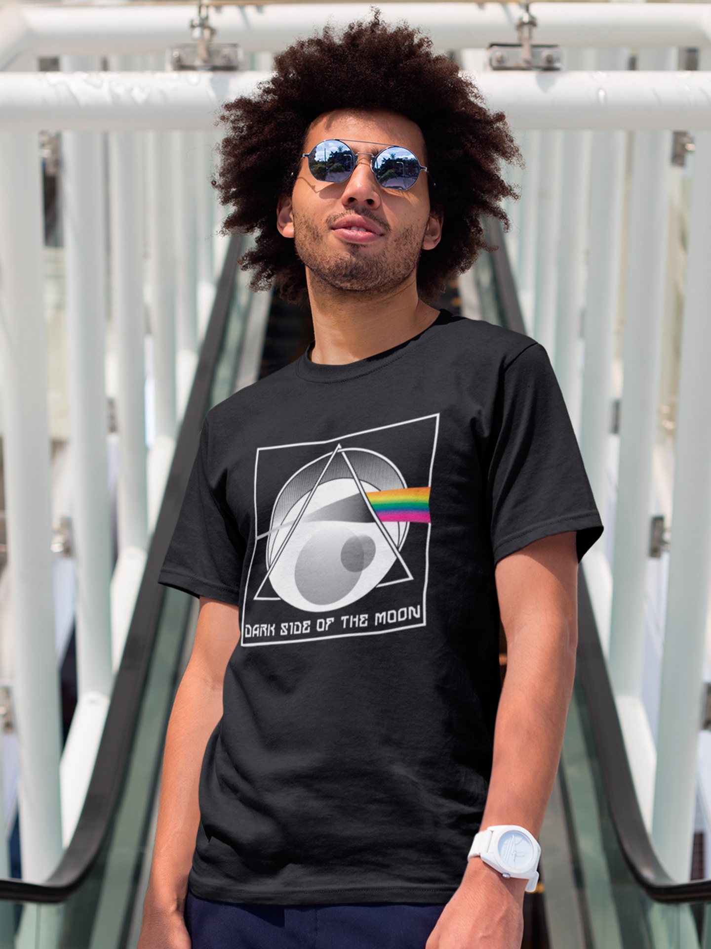 Poetic Justice The Dark Side Of The Moon T-shirt Inspired by Pink Floyd 1973