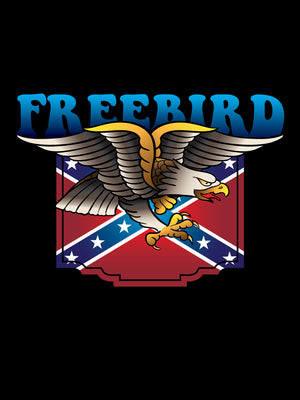 Poetic Justice Freebird T-shirt Inspired by Lynyrd Skynyrd 1973