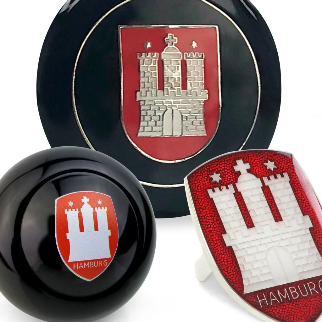 Hamburg 3pcs Dress Up Kits - Horn Button, Hood Crest & Shift Knob