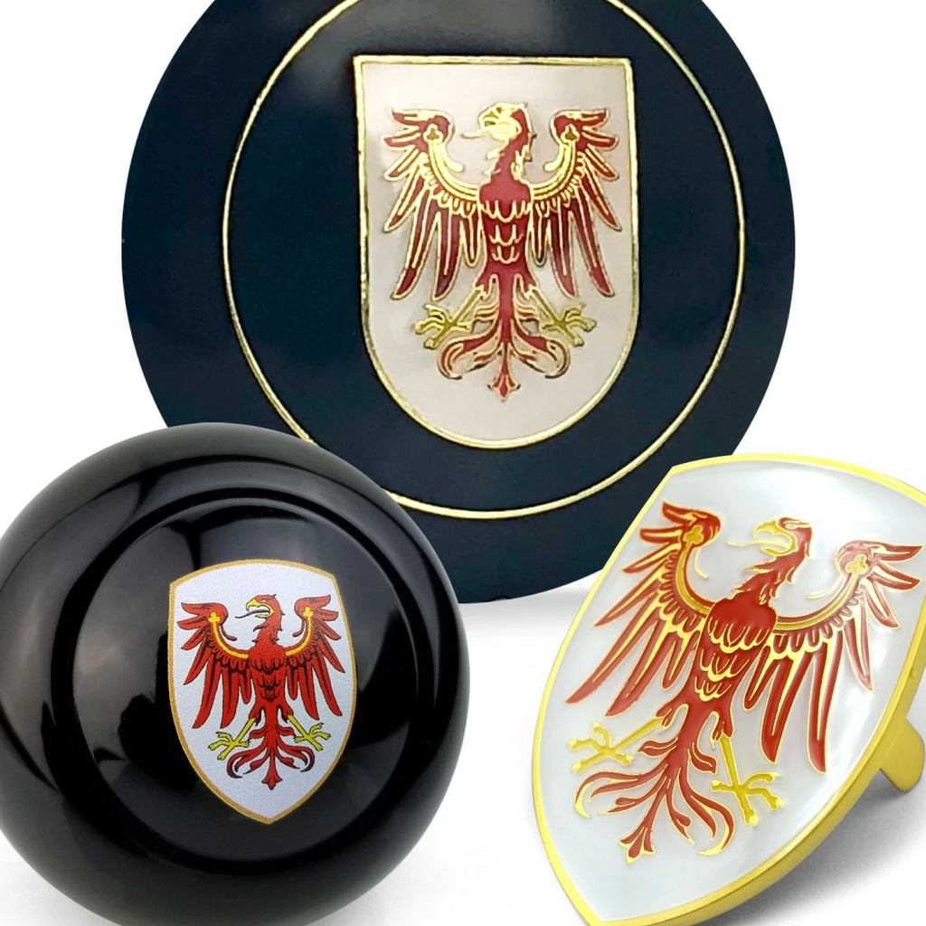 Brandenburg 3pcs Dress Up Kits - Horn Button, Hood Crest & Shift Knob