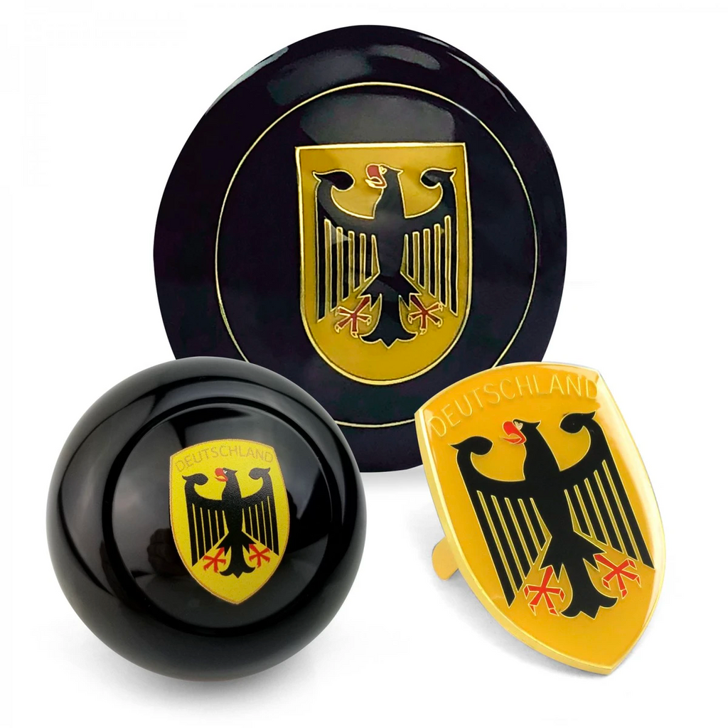 Deutschland 3pcs Dress Up Kits - Horn Button, Hood Crest & Shift Knob