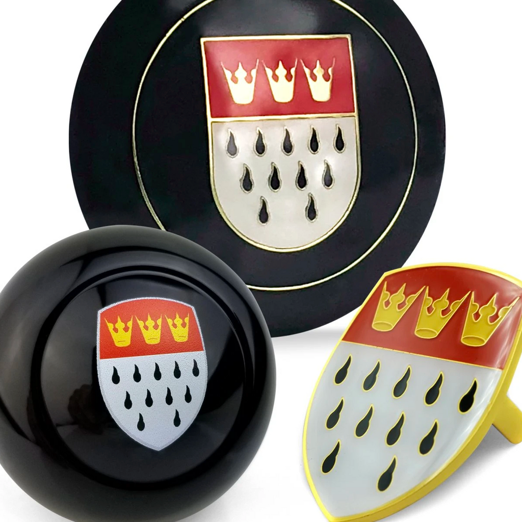 Cologne 3pcs Dress Up Kits - Horn Button, Hood Crest & Shift Knob