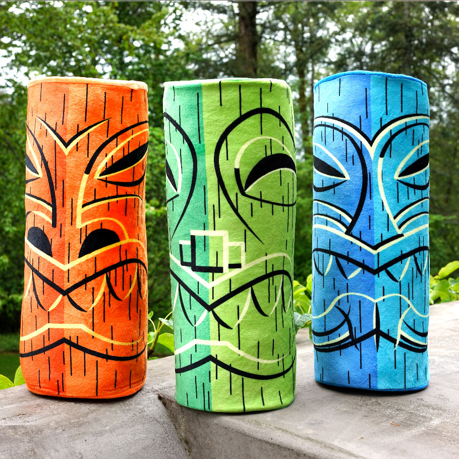 Hawaiian Tiki Pillows