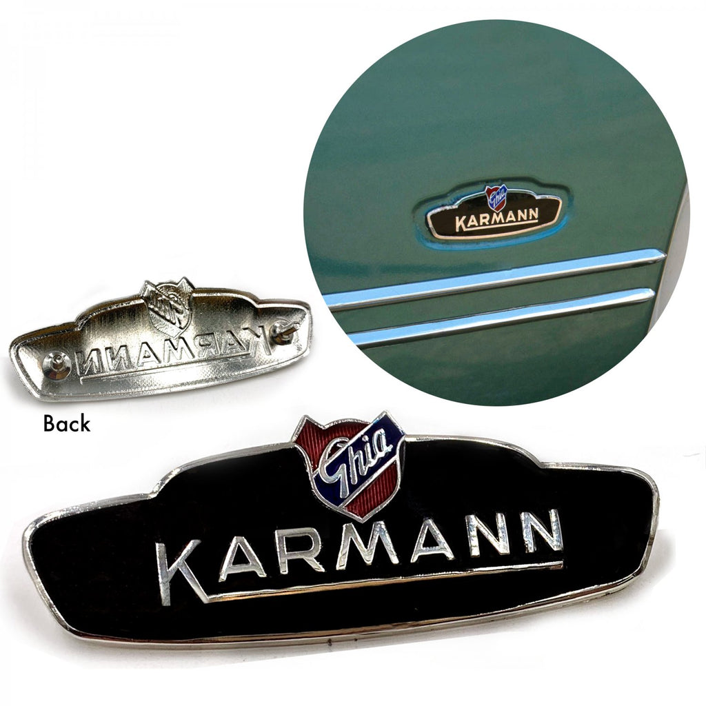VW Karmann Ghia Bat Ear Side Body Badge Emblem 1956 - 1959  Coupes  and Convert.