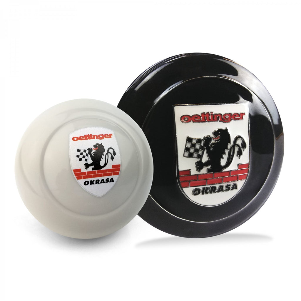 Okrasa Crest 2Pc Kit - Horn Button & Ivory 10mm Shift Knob Bus Beetle Ghia T2