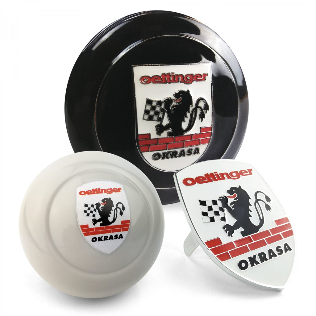 Okrasa Crest 3Pcs Kit - Horn Button, Hood Crest, & Ivory 12mm Shift Knob