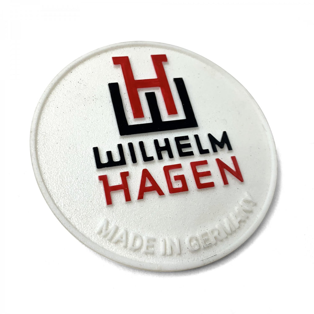 Wilhelm Hagen Battery Badge for VW Beetle Bus Ghia Okrasa Split Porsche 356 911