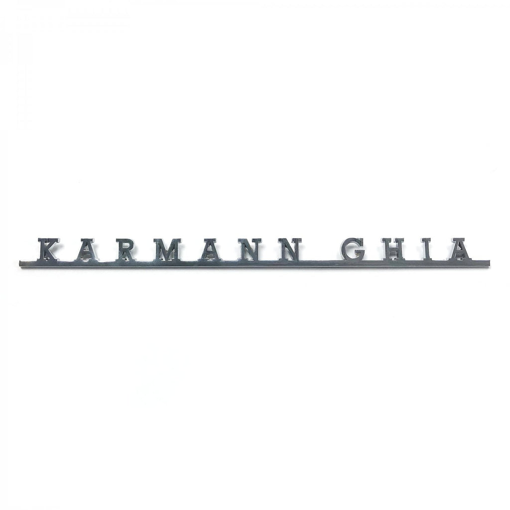 VW Karmann Ghia AirCooled Script Emblem Badge Volkswagen Standard, Razor and Lowlight Ghia