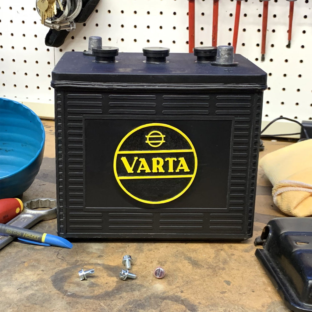 Varta Battery Badge for VW Beetle Bus Ghia Okrasa Split Zwitter Porsche 356 911
