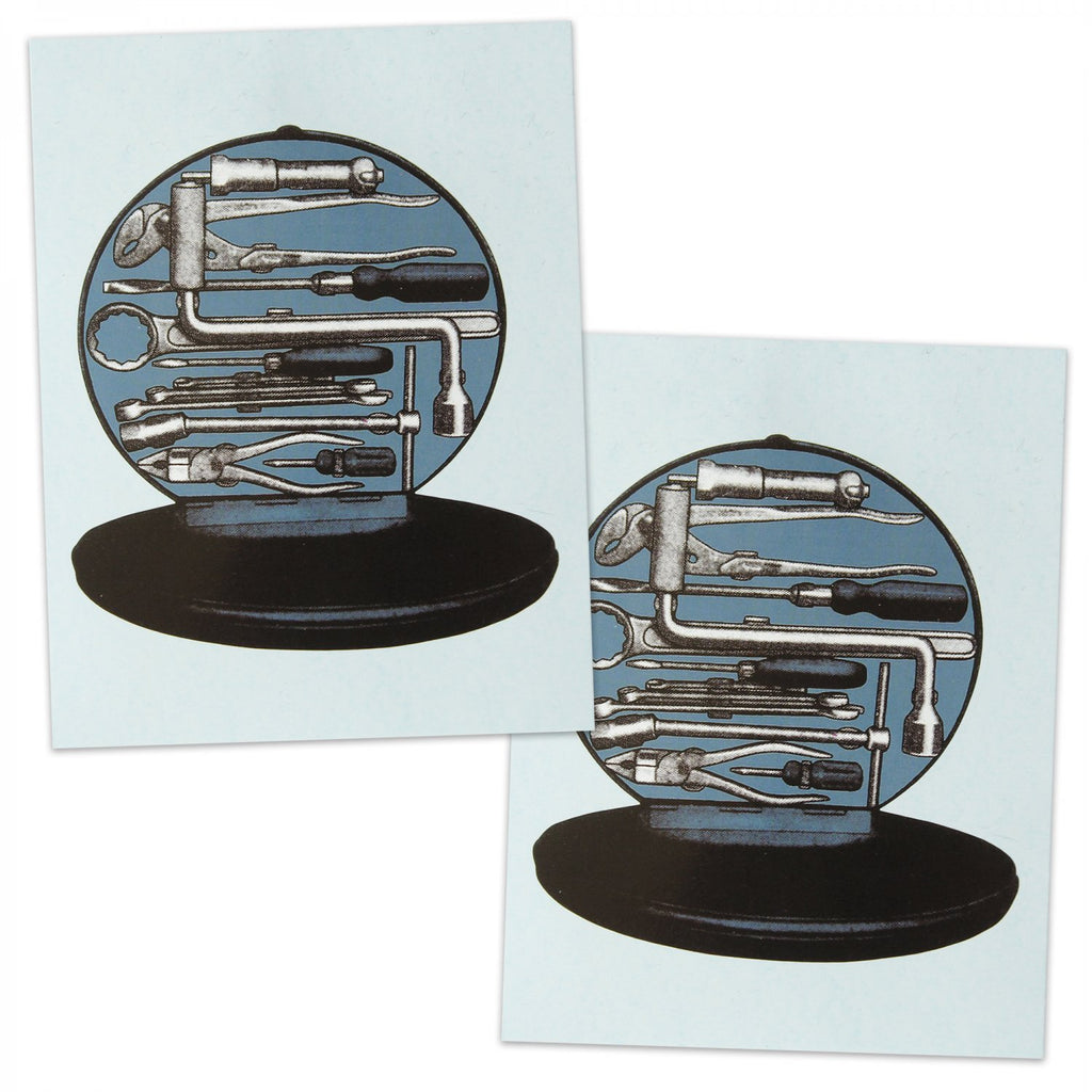 Hazet Toolbox Decal for 52-62 Split Oval Bus Ghia KDF Porsche 356 - 2 Pack