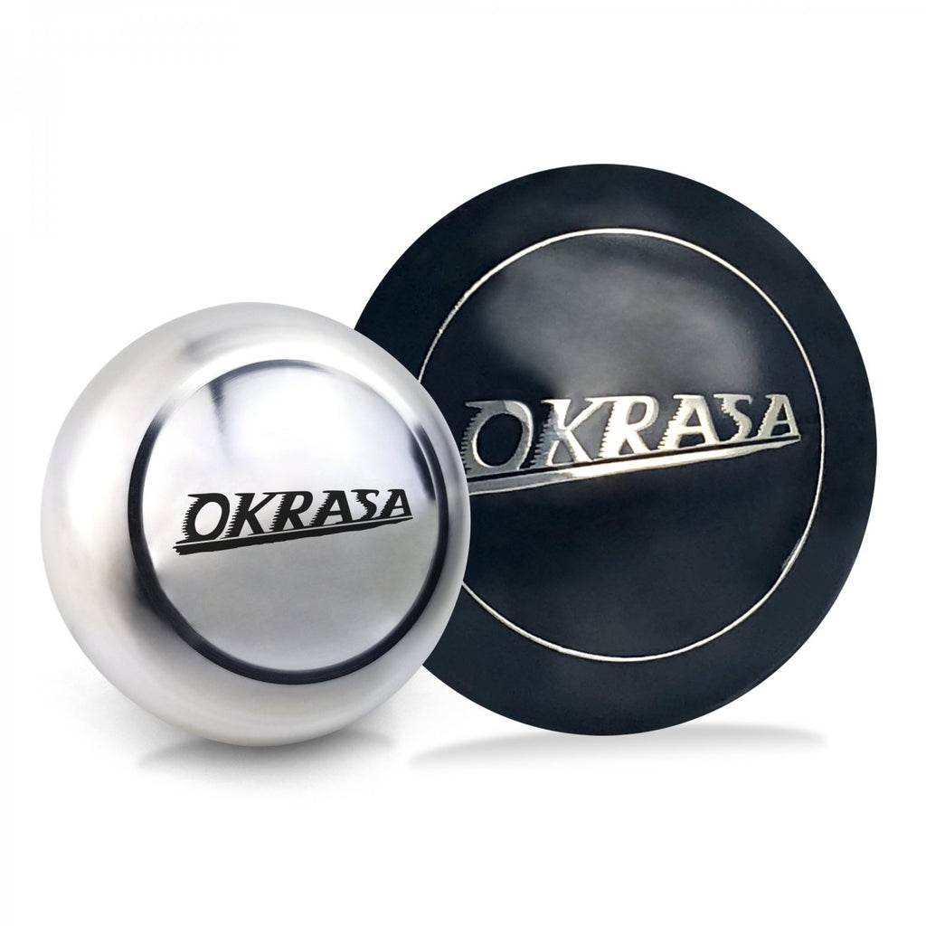 Okrasa 2Pc Kit - Horn Button & Aluminum 12mm Shift Knob Bus Beetle Ghia Split