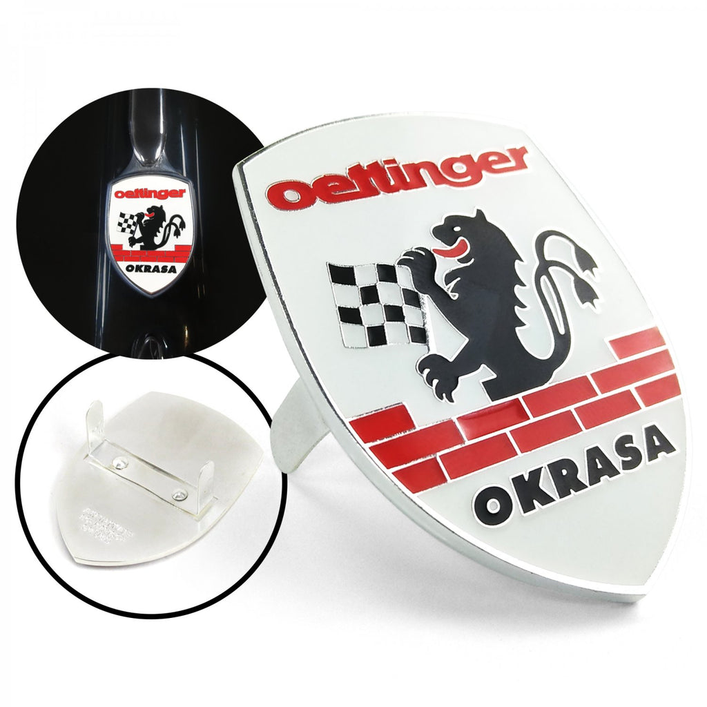 Okrasa Crest 3Pcs Kit - Horn Button, Hood Crest, & Aluminum 12mm Shift Knob
