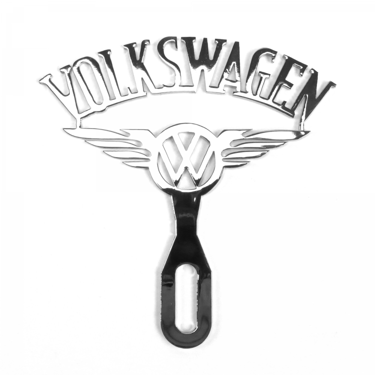 Volkswagen Chromed License Plate Topper
