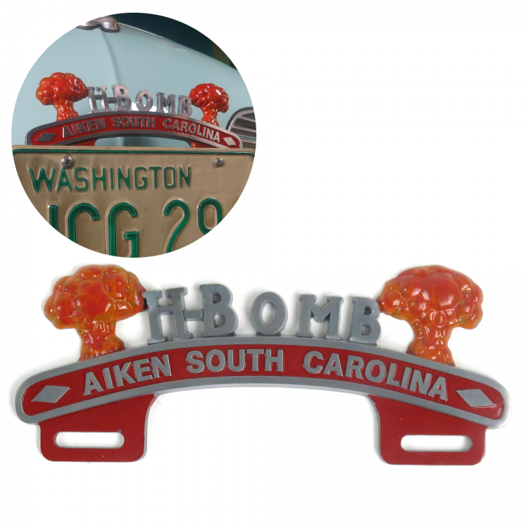 H-Bomb License Plate Topper - Aiken South Carolina