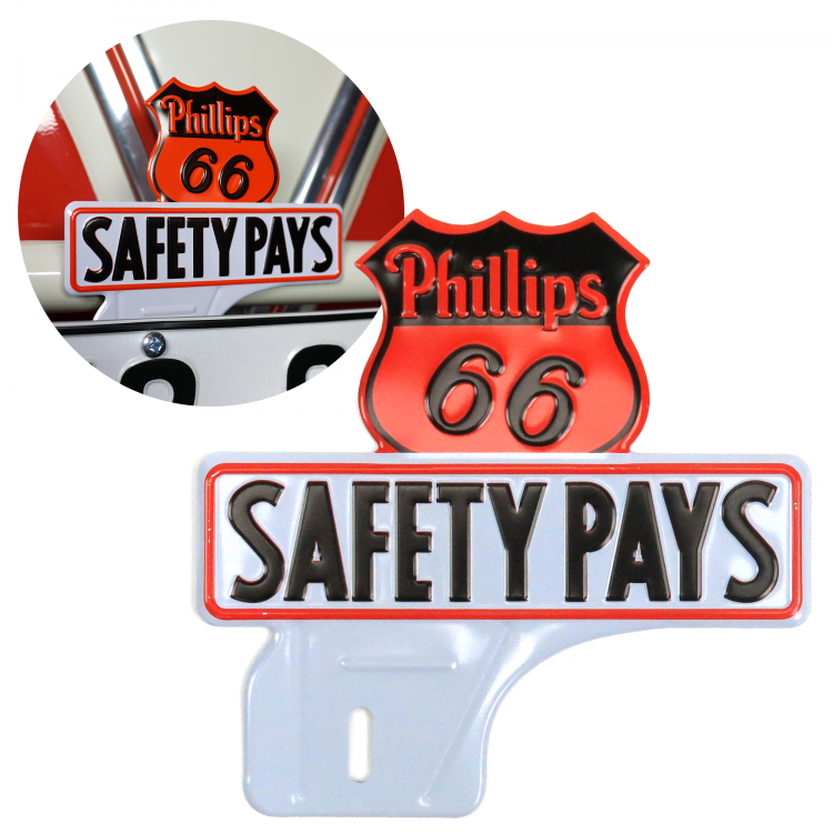 Phillips 66 License Plate Topper
