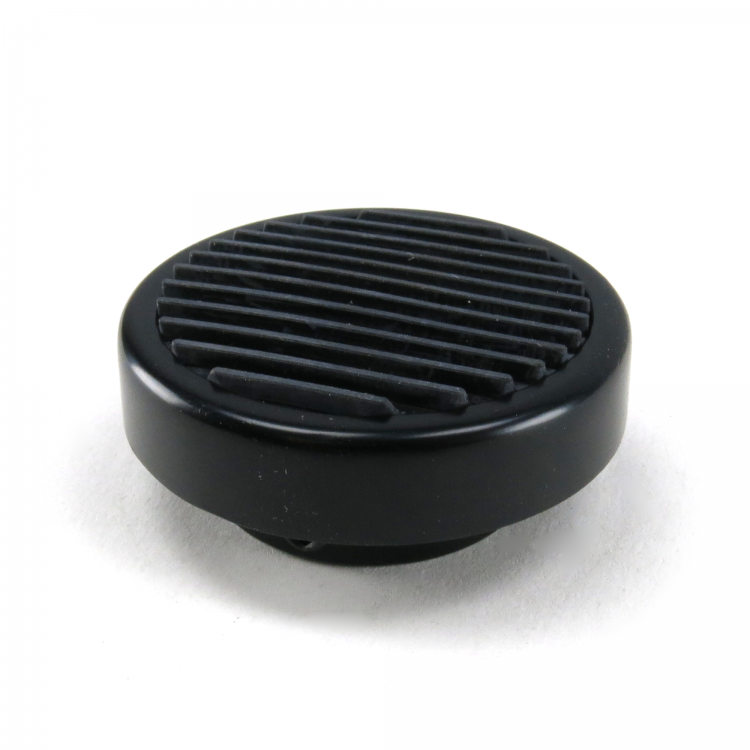 Round Billet Headlight Switch Dimmer High Beam Pedal Cover - Black