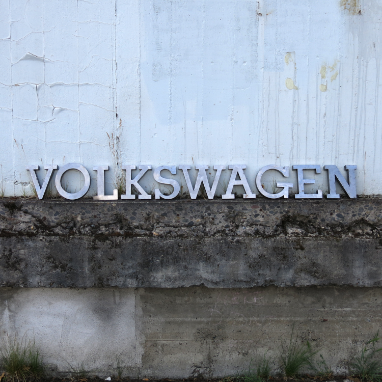 VW Dealership Metal Volkswagen Sign