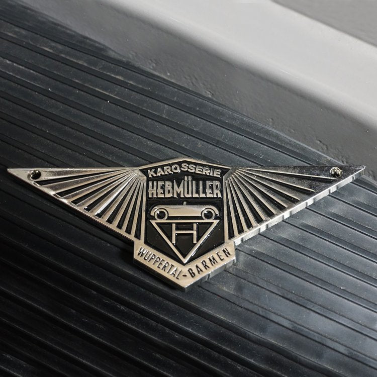 Volkswagen Hebmuller VW Body Badge Emblem Plate - Black