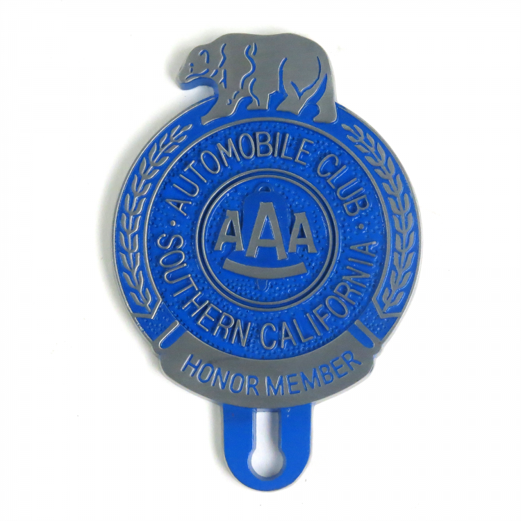 AAA Of Southern California Honor Member License Plate Topper