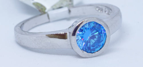 1 blue Helenite  1.35 Ct. Ring