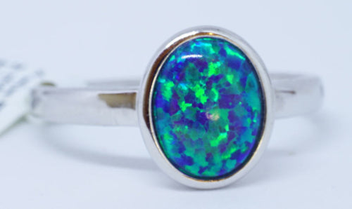 1 IL Opal 0.5Ct Ring