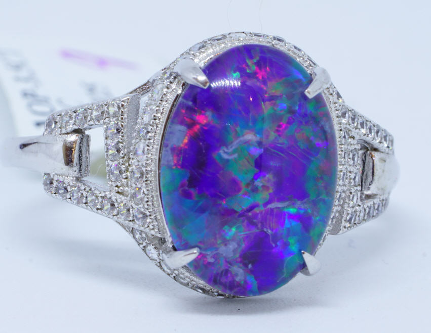 1 Opal 3.5 Ct. 70 cubic Zirconia Ring