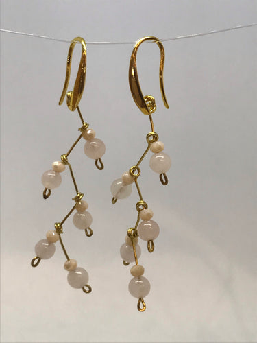 Snowflake Drops Wire Wrap Earrings