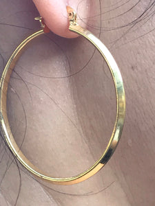 18K Gold Filled beautiful Hoop Earrings