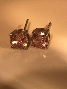 Eco-Friendly CZ Birthstone SS925 earrings