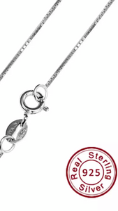 S925 Sterling Silver Necklace - 18""