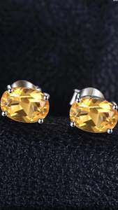 Natural Citron stud earrings