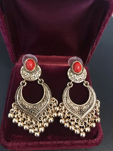 TopHanqi Indian Jewelry metal Vintage Tassel Earrings
