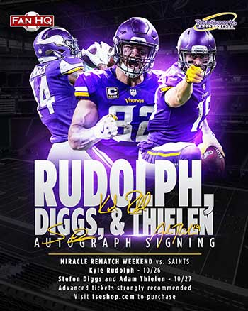 Rudolph, diggs, thielen public signing