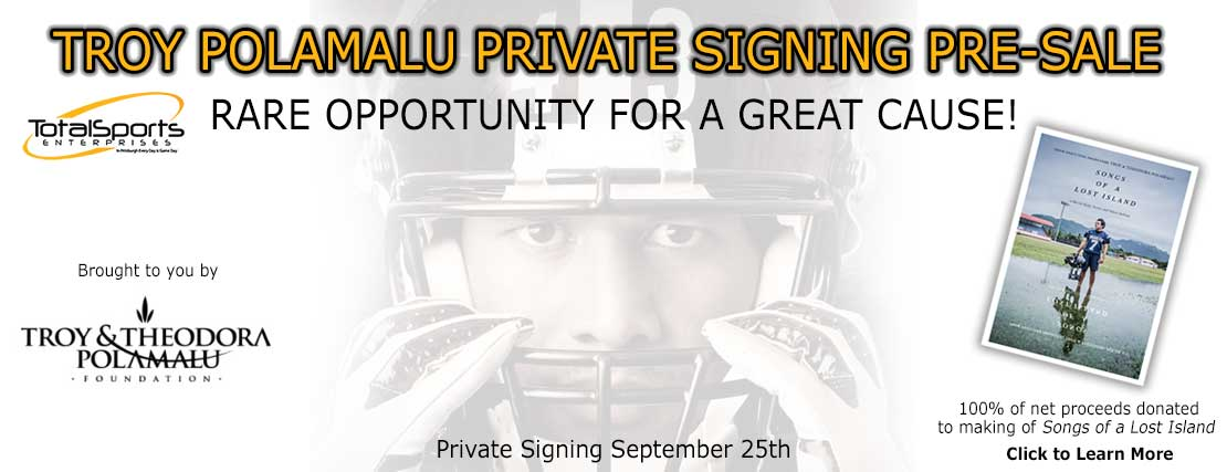 Troy Polamalu Private Signing