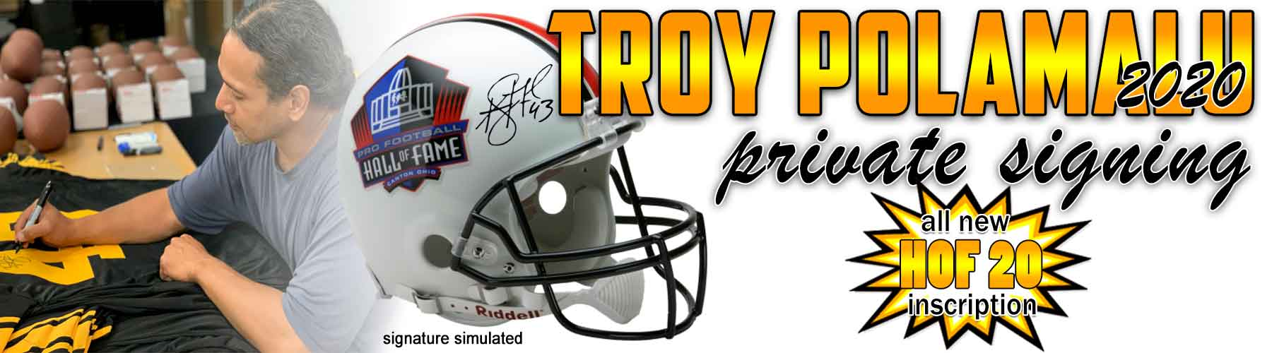 Troy Polamalu Private Siging