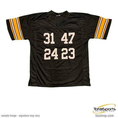 4X SB Champs Custom Jersey Autographed by Mel Blount, Donnie Shell, JT Thomas and Mike Wagner Default Title