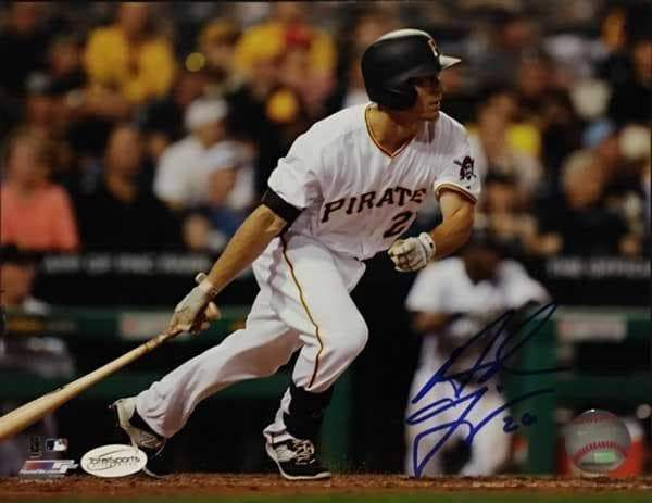 Adam Frazier Signed Bat Down 8x10 Photo