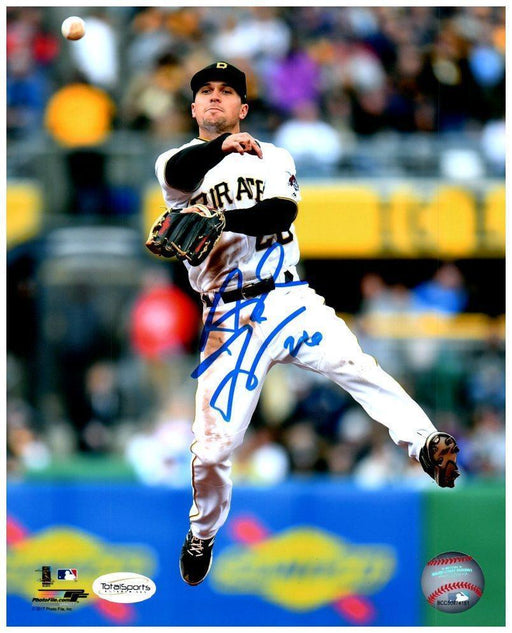 Adam Frazier Signed In Air Throwing Baseball 8x10 Photo