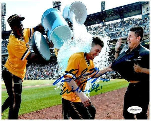 Adam Frazier Signed Walk Off Shower 8x10 Photo with Walkoff