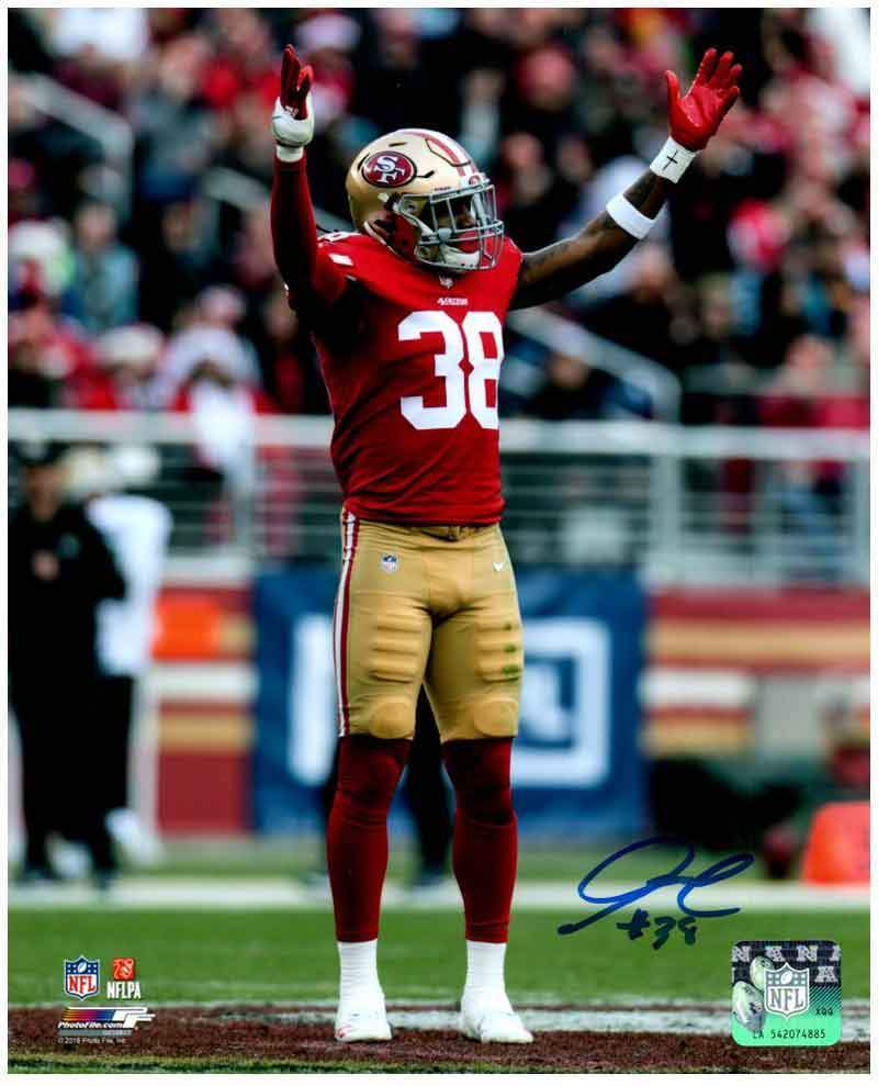 Adrian Colbert Signed On Field, Both Hands Up 8x10 Photo (#38)