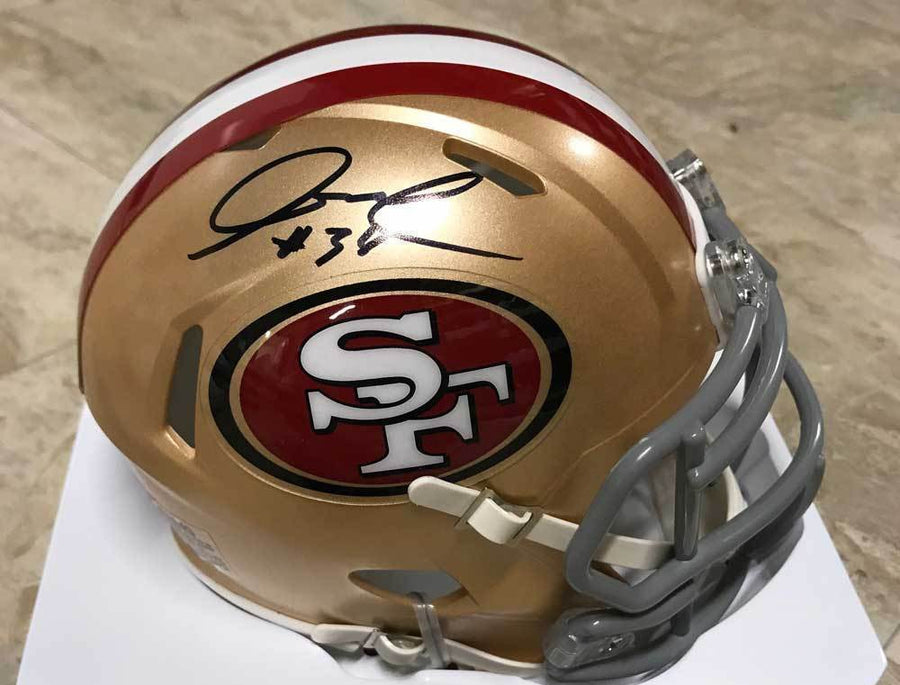 Adrian Colbert Signed San Francisco 49ers Mini SPEED Helmet
