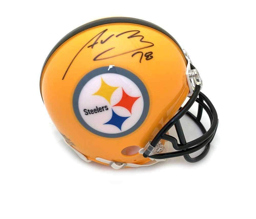 Alejandro Villanueva Signed Pittsburgh Steelers 75th Anniversary Mini Helmet