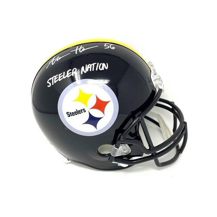 Alex Highsmith Signed Pittsburgh Steelers Black FS Replica Helmet with Steeler Nation - DAMAGED